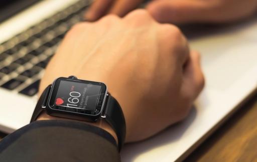 Een hoge hartslag gemeten op een Apple Watch.