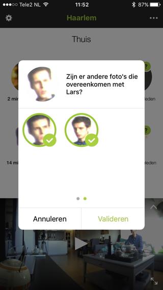 In de app help je de camera met het herkennen van mensen.
