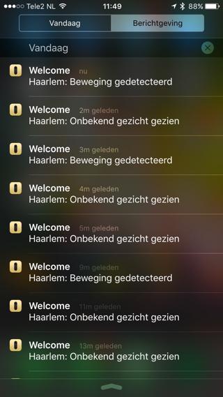 Een notificatie-overdaad van de Netatmo app.