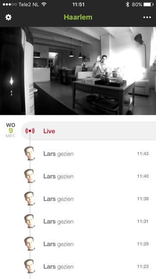 Een livestream van de Netatmo camera.