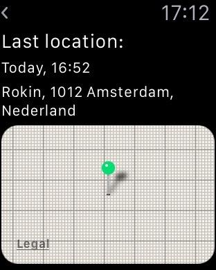 Als je buiten Bluetooth-bereik bent kun je de laaste locatie opvragen.