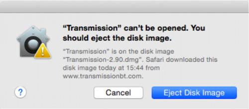 transmission-foutmelding
