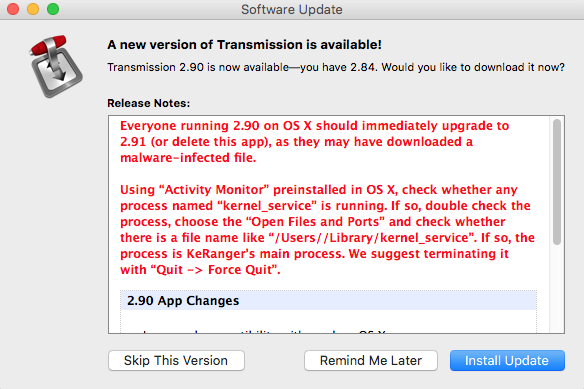 Transmission 2.91 voor Mac