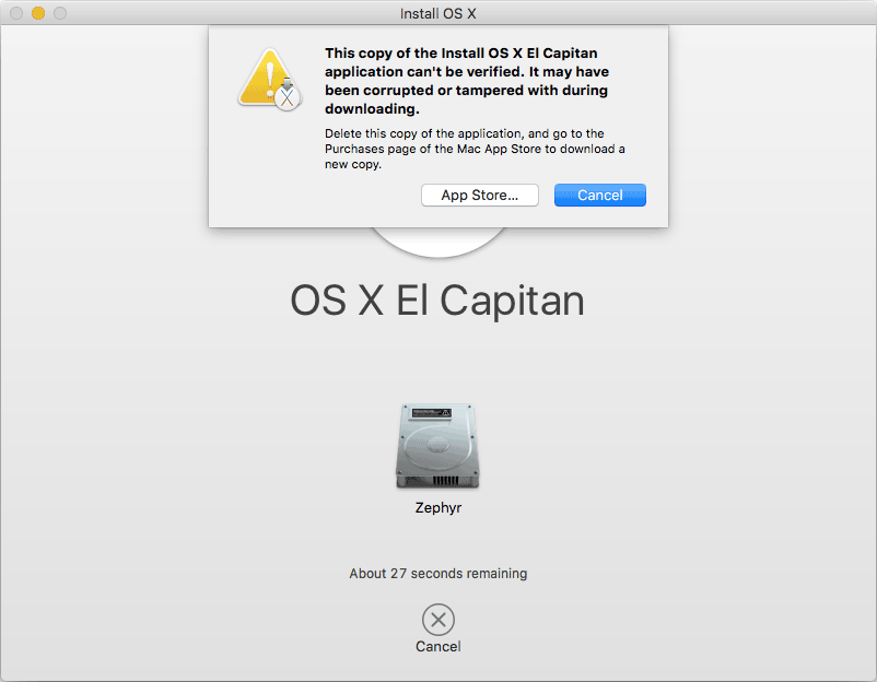 Oude installer OS X
