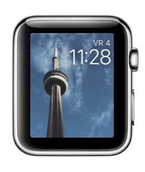 Facer voor de Apple Watch met een toren.