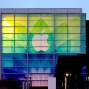 Apple-logo op gebouw