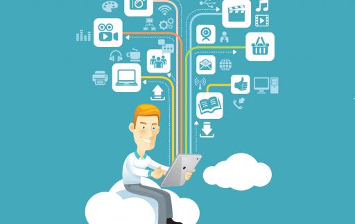 Man met tablet, beeld via Shutterstock