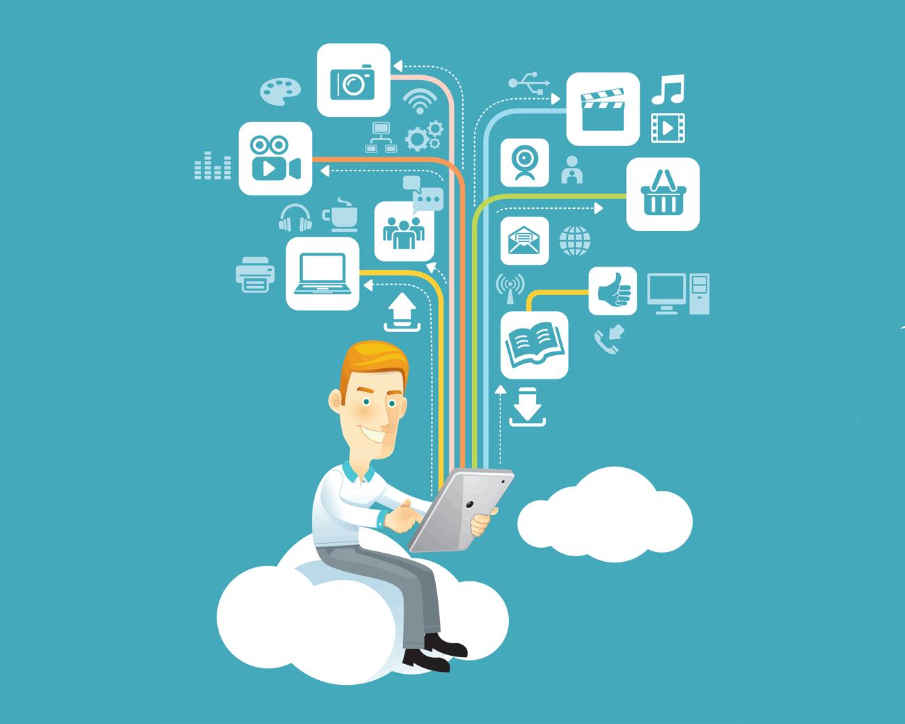 Man met tablet, beeld via Shutterstock (shutterstock_115207072)