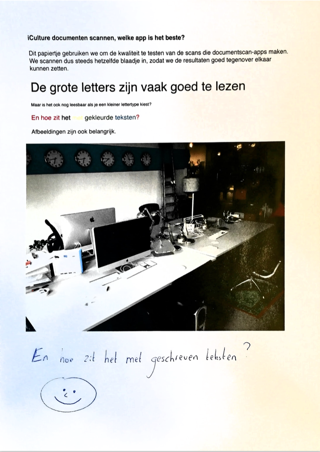 Scanner Pro gooit een heftige filter over het document heen.