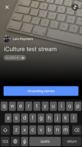 Facebook-livestream-naam