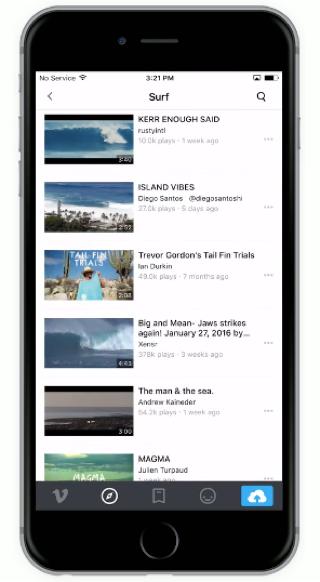 Versie 6.0 van de Vimeo-app is nu beschikbaar.