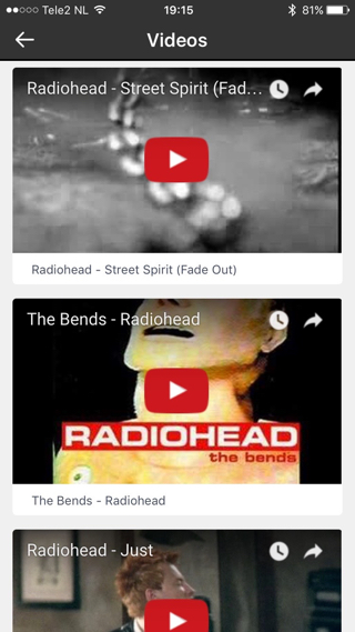 Discogs heeft zelfs de video's van albums.