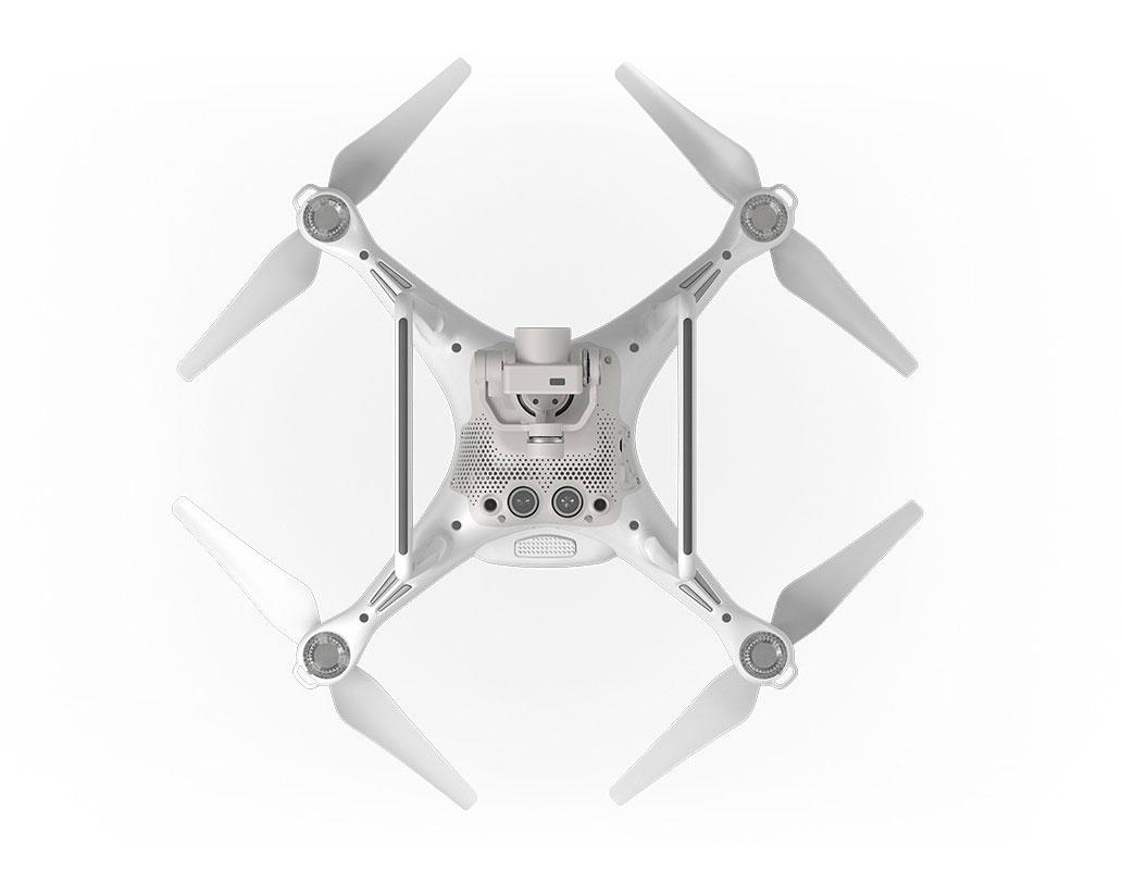 DJI Phantom 4: onderkant van de drone