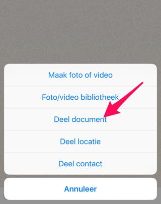 Documenten versturen WhatsApp