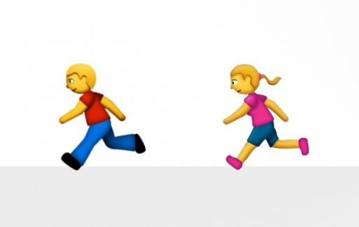 Krijgen we binnenkort een rennende vrouw als Emoji?