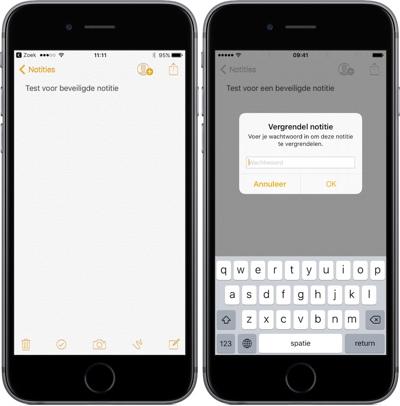 Notities beveiligen in iOS