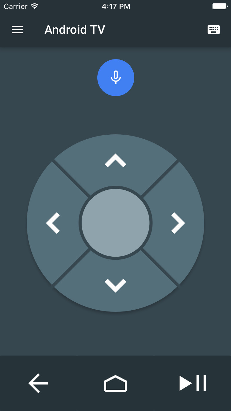 Android TV remote-app voor iOS