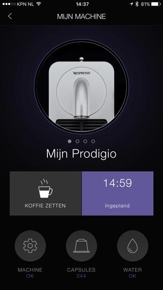 Nespresso Prodigio-app