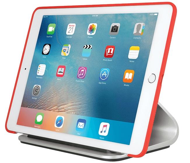 Logi BASE is een oplaaddock voor de iPad Pro, ook met hoes.