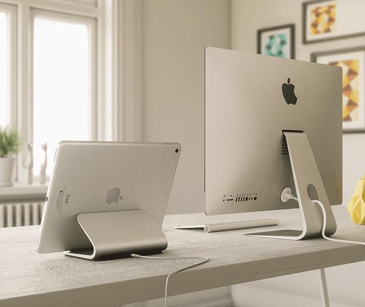 Logi BASE is een oplaaddock voor de iPad Pro die lijkt op een iMac-voet.