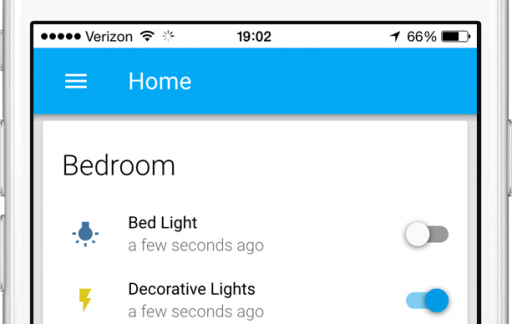 Home Assistant voor de iPhone.