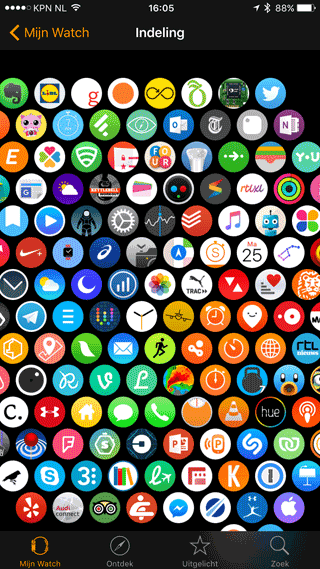 Apple Watch Gonny's homescreen