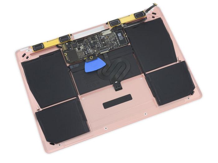 MacBook 2016 interne componenten