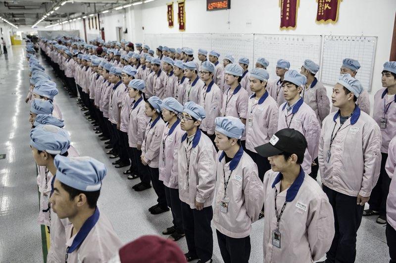 Werknemers van Pegatron in Shanghai