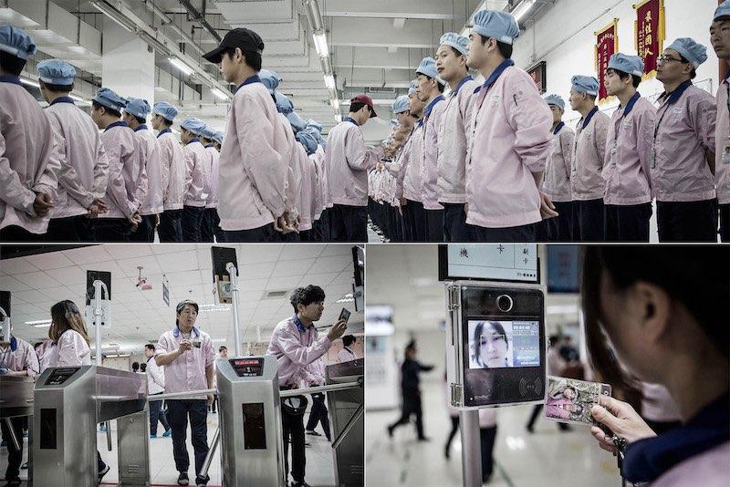 Pegatron-Fabriek in Shanghai.