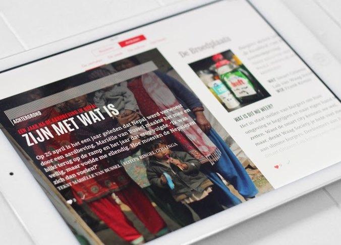 Blendle-app van Vrij Nederland
