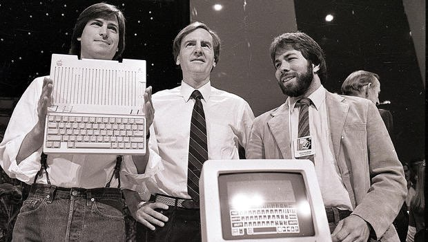 Jobs en Sculley met Wozniak