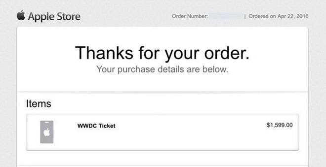 Ticket WWDC 2016