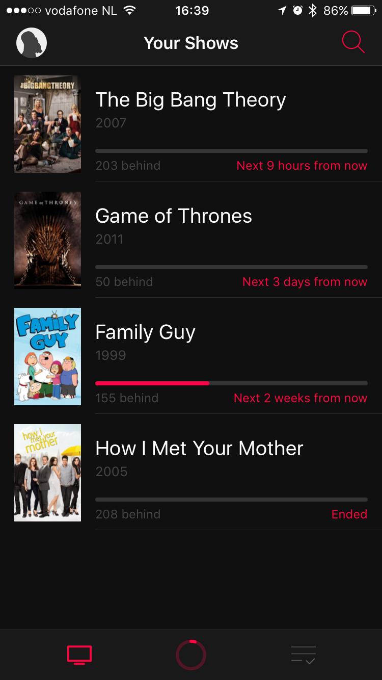 Jouw serieoverzicht in Serist voor de iPhone.