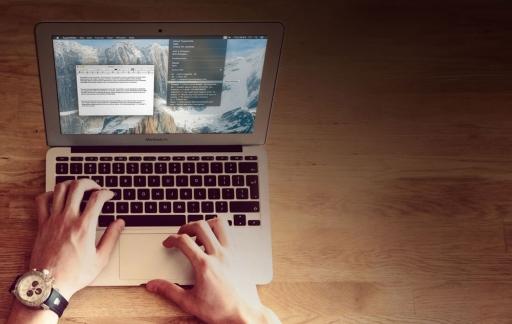Typeit4Me op een MacBook