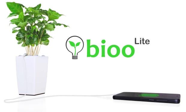 Bioo-plant laadt je iPhone op.
