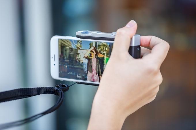 Pictar camera hoes voor de iPhone met fysieke knoppen.