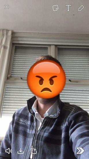 Snapchat heeft nu emoji-stickers in video-Snaps.