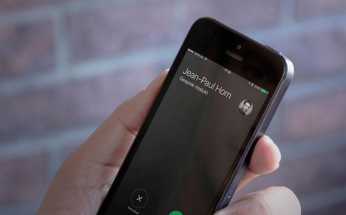 Gesprek mislukt op iPhone SE