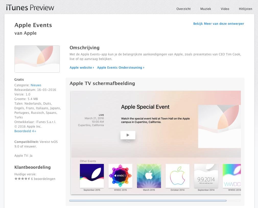 Apple TV-apps zijn nu ook te bekijken via de webversie van iTunes.