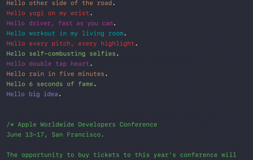 WWDC 2016 uitnodiging