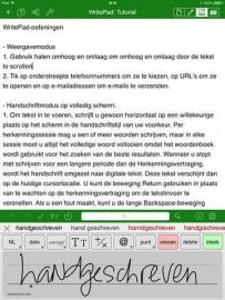 WritePad app kan Nederlands herkennen