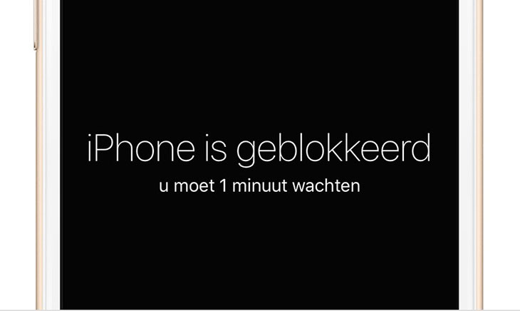 iPhone geblokkeerd