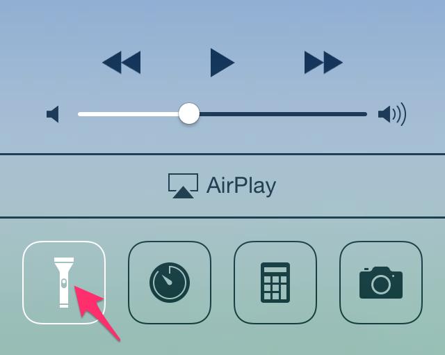 iPhone-zaklamp