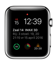 Unlimited Fans voor de Apple Watch met de wijzerplaat.