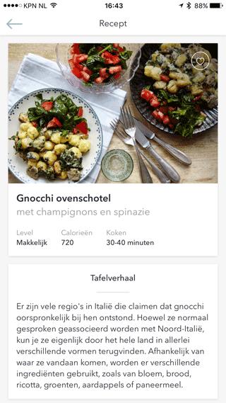 Marley Spoon: gnocchi ovenschotel, het gerecht dat wij hebben gemaakt