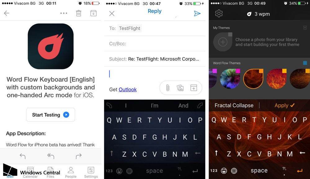 Word Flow voor iOS op screenshots