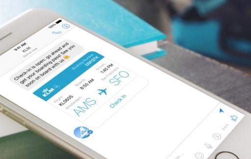 KLM chatbot in Facebook Messenger