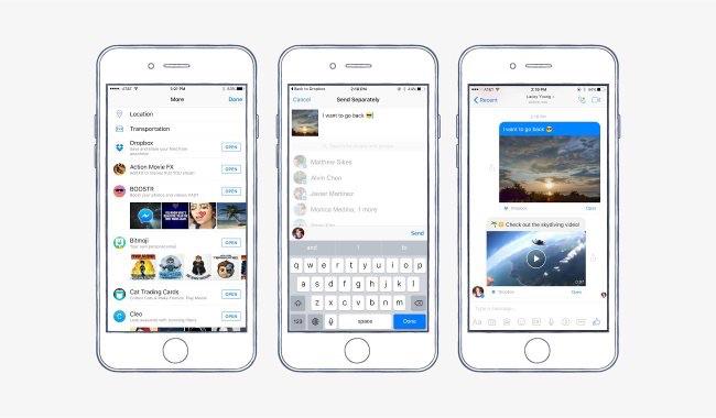Facebook Messenger met Dropbox-integratie.