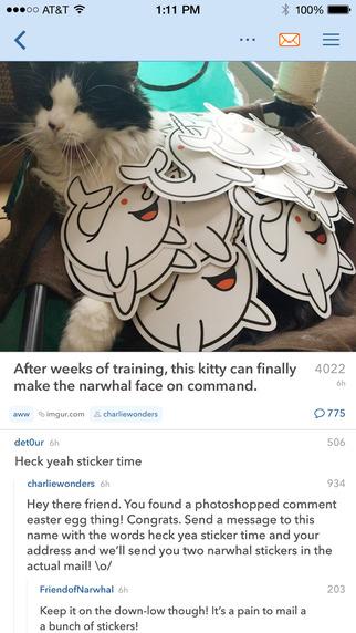 Narwhal app voor Reddit