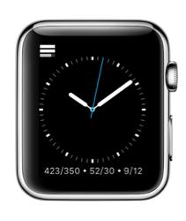 Activity++ voor de Apple Watch met wijzerplaat.